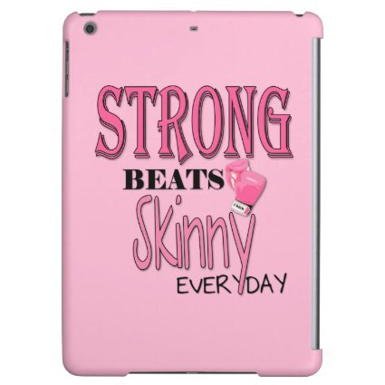 STRONG BEATS Skinny everyday! W/Pink Boxing Gloves iPad Air Covers