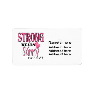 STRONG BEATS Skinny everyday! W/Pink Boxing Gloves Label