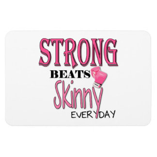 STRONG BEATS Skinny everyday! W/Pink Boxing Gloves Magnet