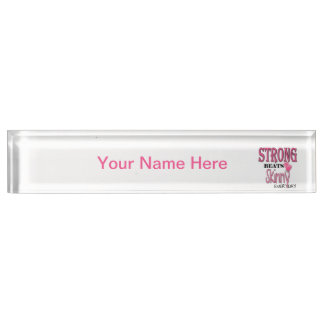 STRONG BEATS Skinny everyday! W/Pink Boxing Gloves Name Plate