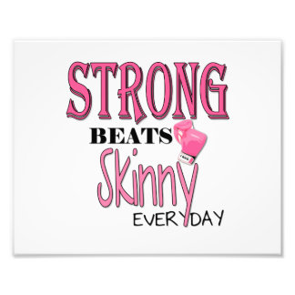 STRONG BEATS Skinny everyday! W/Pink Boxing Gloves Photo Print