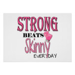 STRONG BEATS Skinny everyday! W/Pink Boxing Gloves Poster