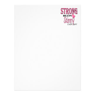 STRONG BEATS Skinny everyday! With Pink Boxing Glo Letterhead Template