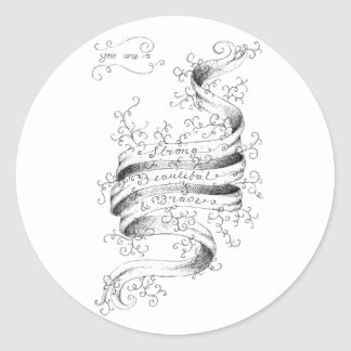 Strong, Beautiful & Brave Classic Round Sticker