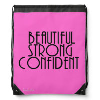 Strong Beautiful Confident (PINK) Drawstring Bag
