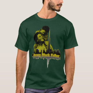 Strong Black Father Tee Green