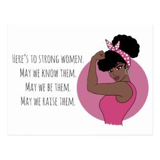 Strong Black Women Postcard
