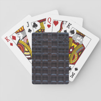 Strong Brown Iron Door Playing Cards