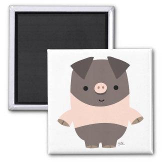 Strong Cartoon Pig magnet