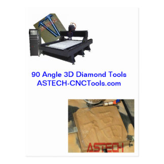 Strong CNC Router Tools for Stone Granite Monument Postcard