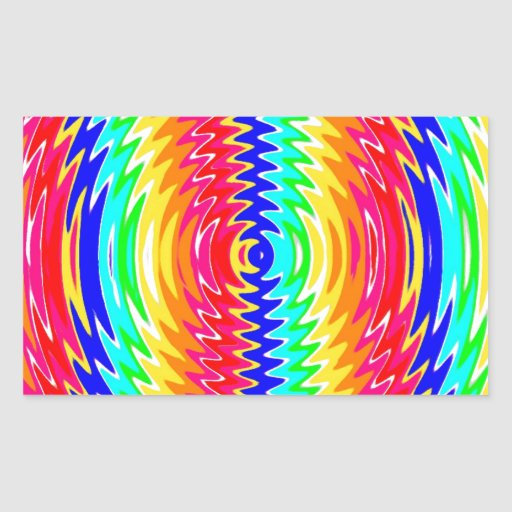 strong colors, waves, vibe rectangle sticker