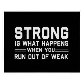 Strong Defined Poster