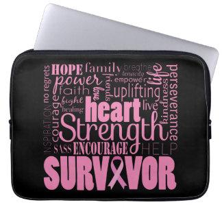 Strong Descriptives Cancer Survivor Laptop Computer Sleeve