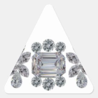 Strong Diamonds Triangle Sticker