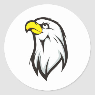 Strong Eagle Classic Round Sticker