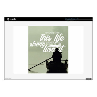 Strong Enough To Live This Life Skins For Laptops
