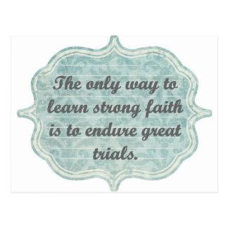Strong Faith Postcard
