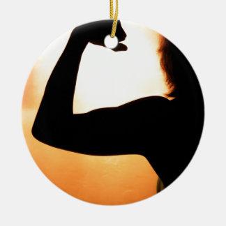 Strong Female Ceramic Ornament