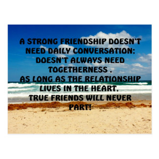 STRONG FRIENDSHIP POSTCARD