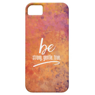 Strong Gentle True Glowing Autumn Watercolor iPhone SE/5/5s Case