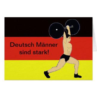 Strong German men birthday Card