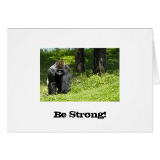 Strong Gorilla Card