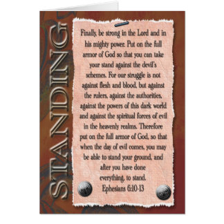 Strong in the Lord Card