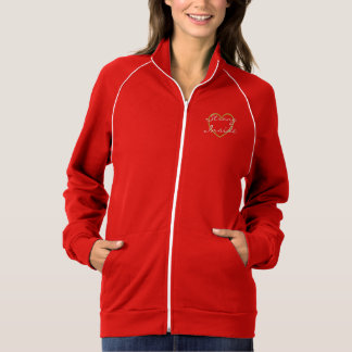 Strong Inside with Gold Heart Ladies Jacket