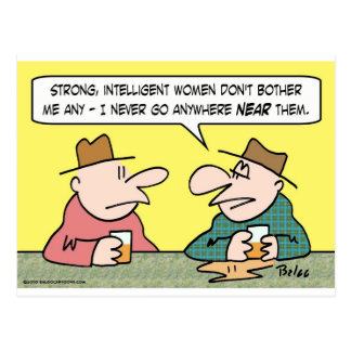 strong intelligent women post cards