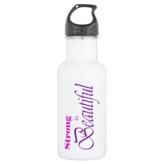 Strong Is Beautiful Stainless Steel Water Bottle