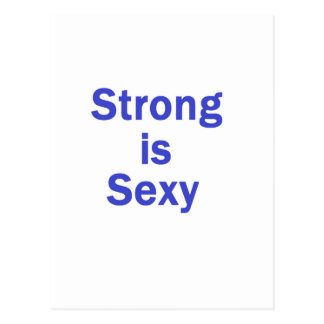 Strong is sexy- Blue Post Card