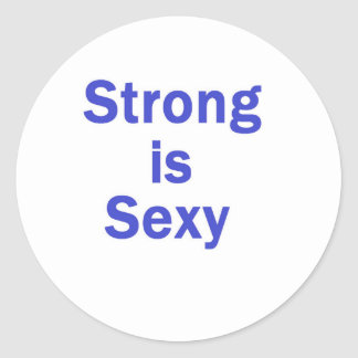 Strong is sexy- Blue Stickers
