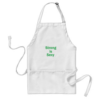 Strong is sexy- Green Adult Apron