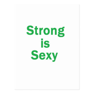 Strong is sexy- Green Postcard