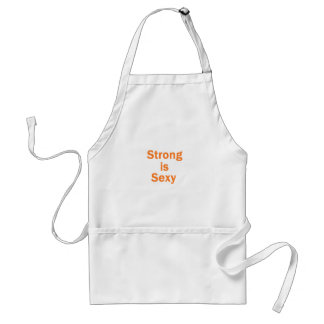 Strong is sexy- orange adult apron