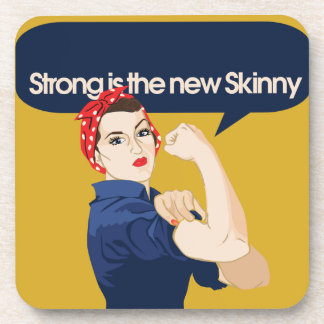 Strong is the new Skinny Drink Coaster