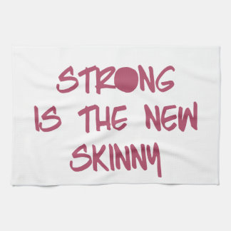 Strong is the New Skinny Motivational Workout Gym Hand Towel
