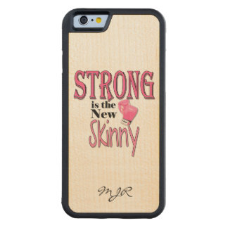 STRONG is the new Skinny! Pink Boxing Gloves Carved Maple iPhone 6 Bumper Case