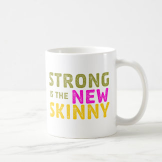 Strong is the New Skinny - Sketch Classic White Coffee Mug