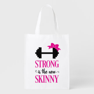 Strong Is The New Skinny (weights) Grocery Bag
