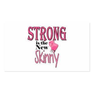 STRONG is the new Skinny! With Pink Boxing Gloves Business Card