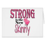 STRONG is the new Skinny! With Pink Boxing Gloves Greeting Cards