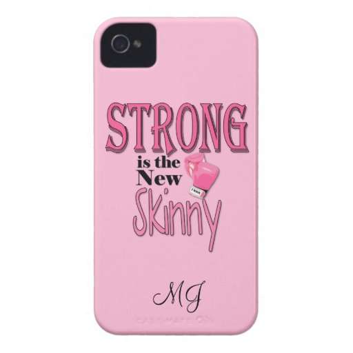 STRONG is the new Skinny! With Pink Boxing Gloves Case-Mate iPhone 4 Case