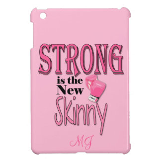 STRONG is the new Skinny! With Pink Boxing Gloves iPad Mini Cover