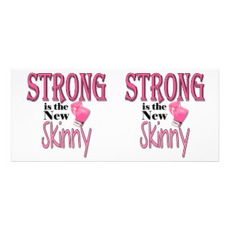 STRONG is the new Skinny! With Pink Boxing Gloves Rack Card