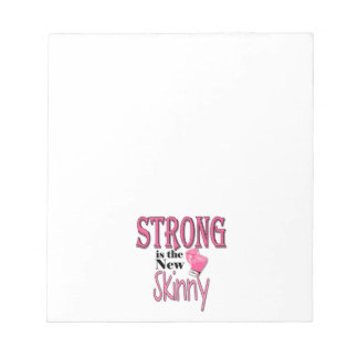STRONG is the new Skinny! With Pink Boxing Gloves Scratch Pad