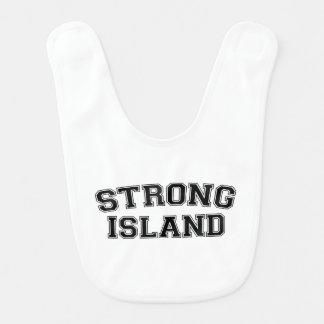 Strong Island, NYC, USA Baby Bib