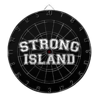 Strong Island, NYC, USA Dartboard With Darts