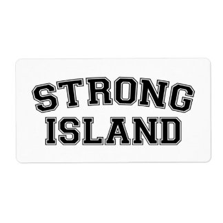 Strong Island, NYC, USA Label