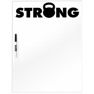 STRONG - Kettlebell Workout Motivational Dry-Erase Board